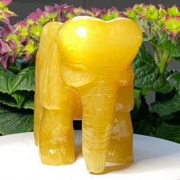 Gul jade elefant