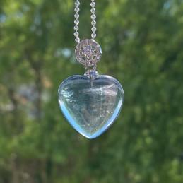 Fluorit hjerte vedhæng