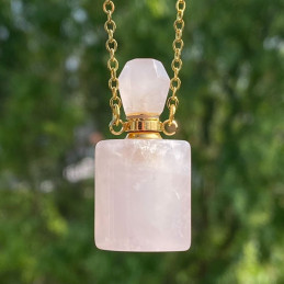 parfume flaske i rosenkvarts