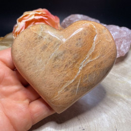 Fersken månesten hjerte