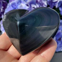 Regnbue obsidian hjerte