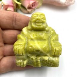 Buddha i serpentin 6cm