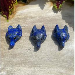 Lapis lazuli ulvehoved vedhæng