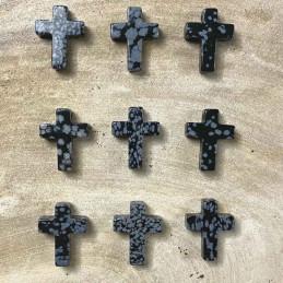Snefnug obsidian kors